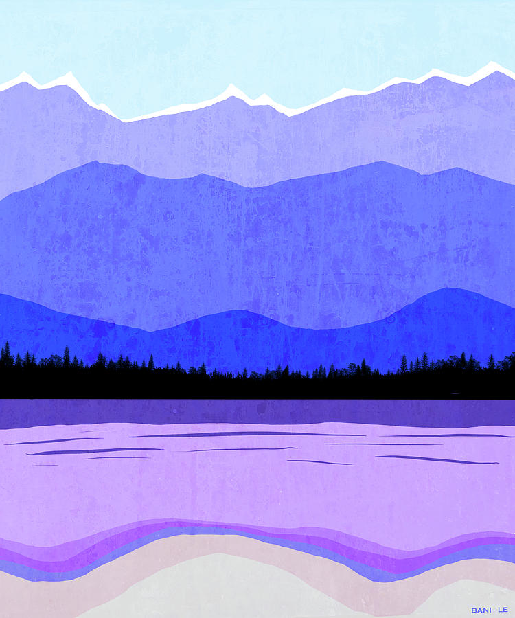Mountains Painting - Blue Ridge Mountains by Little Bunny Sunshine