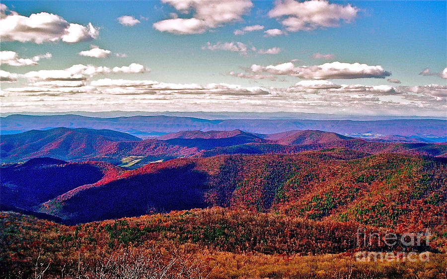 Landscape Photograph - Blue Ridge Of Virginia by E Robert Dee