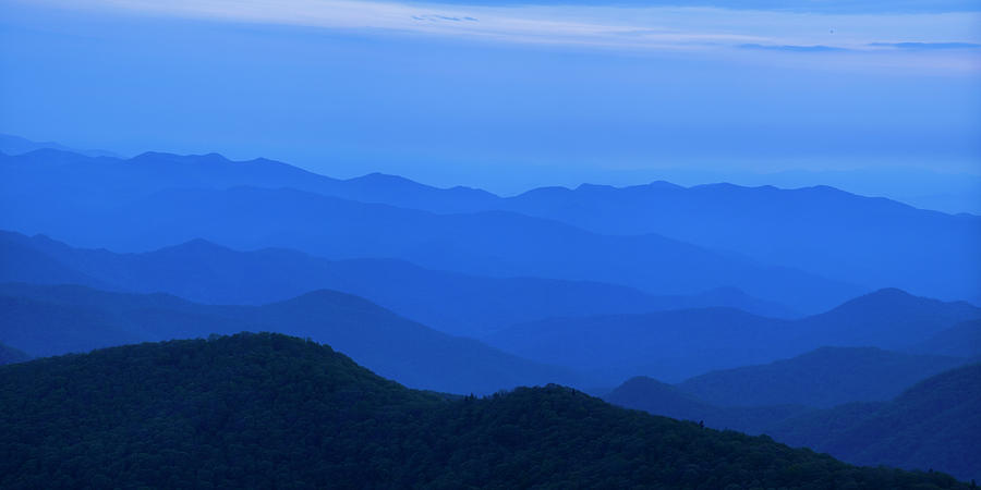 Blue Ridge Mountains Photograph - Blue Ridge Panorama by Andrew Soundarajan