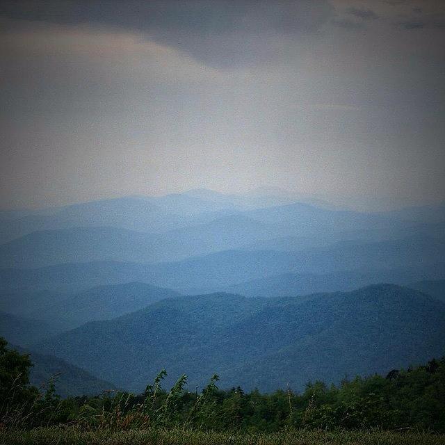 Mountains Photograph - Blue Ridge Parkway Silhouette by Jen McKnight