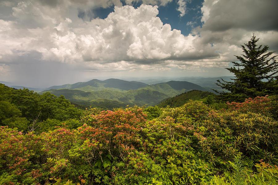 Blue Ridge Parkway Green Knob Overlook by Rick Dunnuck