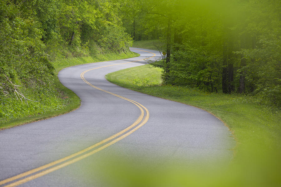 Highway Photograph - Blue Ridge Parkway by Keith May