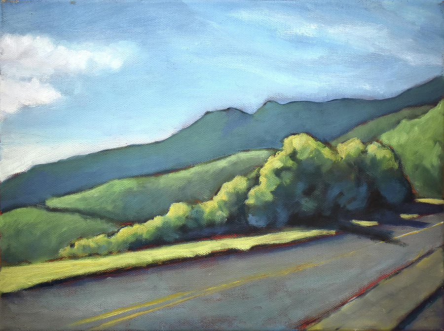 Blue Ridge Painting - Blue Ridge Parkway, Plein Air by Lauren Waterworth