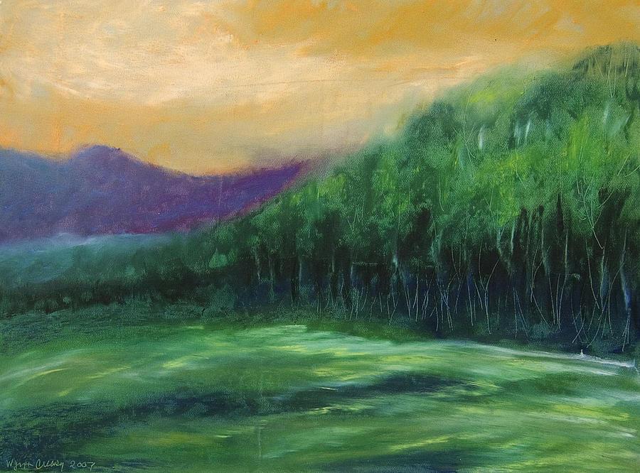 Landscape Painting - Blue Ridge Sunrise by Wynn Creasy