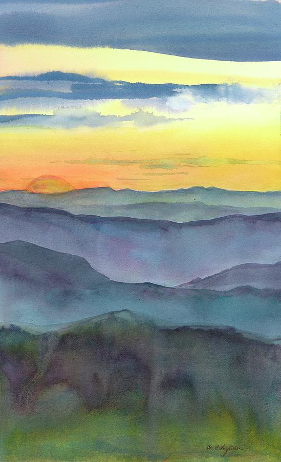 Blue Ridge Painting - Blue Ridge Sunset by Constance Fisher