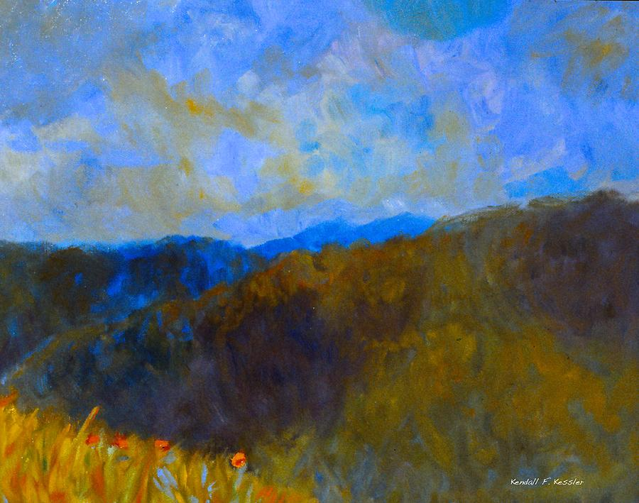 Blue Ridge Mountains Painting - Blue Ridge Swirl by Kendall Kessler
