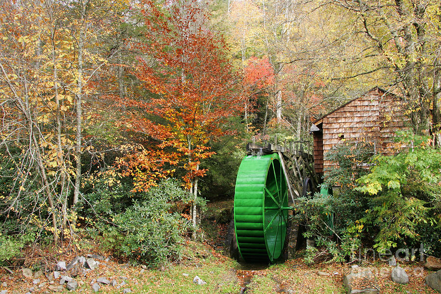 Tennessee Photograph - Blue Ridge Waterwheel by Stan and Anne Foster