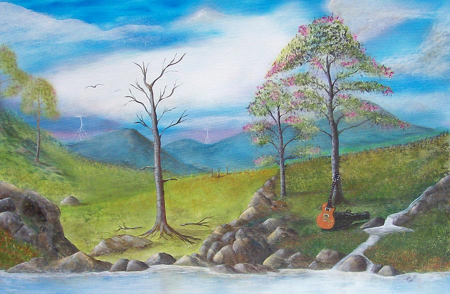 Landscape Painting - Blue River by Tony Rodriguez