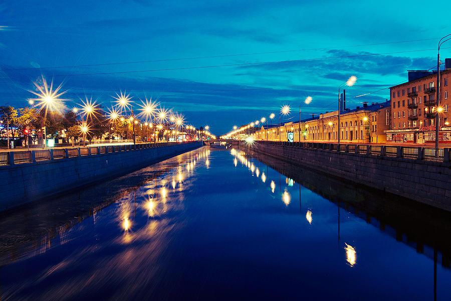Color Photograph - Blue Road by Vadim Tereshchenko