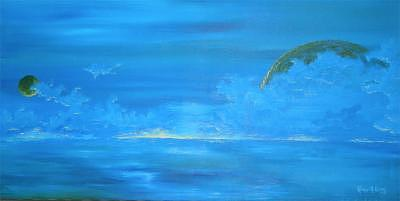 Ocean Painting - Blue by Roald Keith