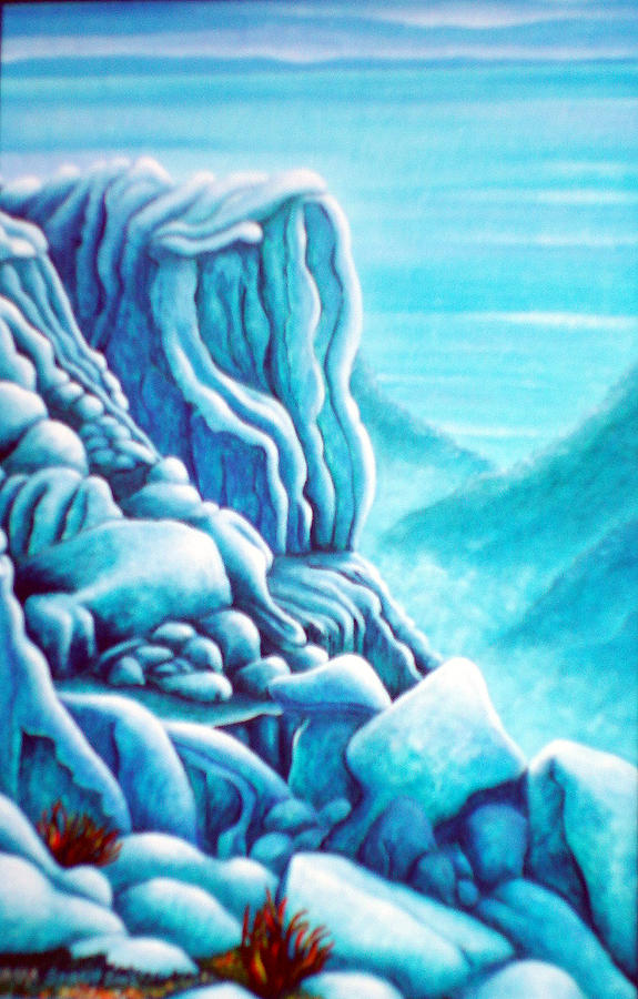 Rocks Painting - Blue Rocks by Barbara Stirrup