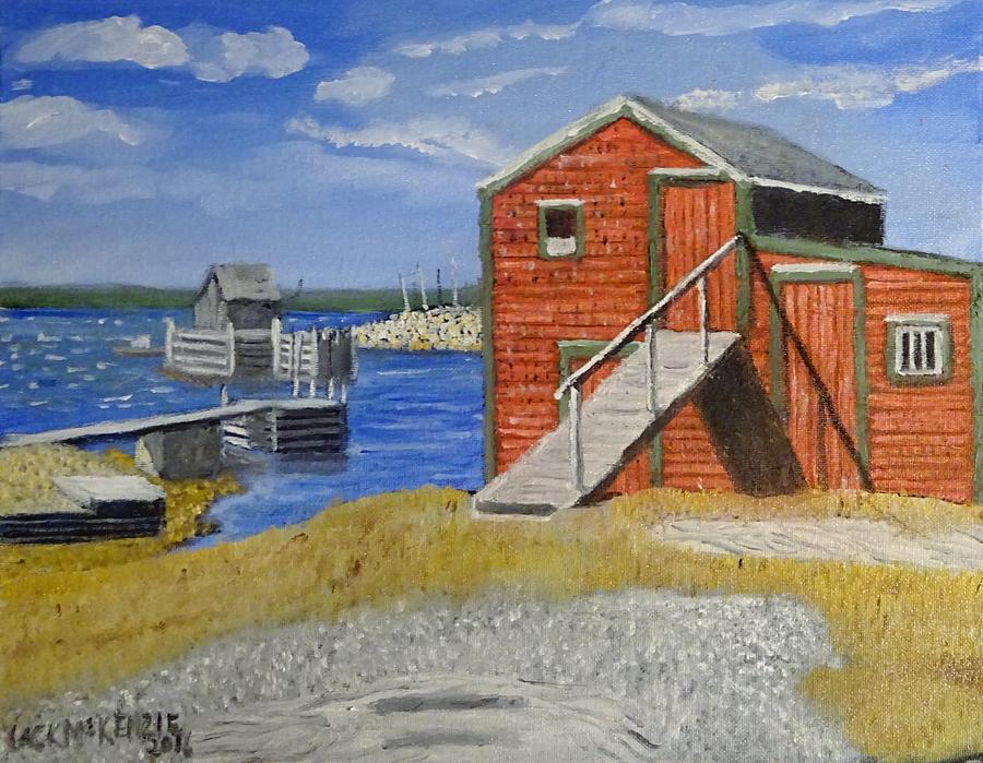 Blue Rocks Nova Scotia I Painting By Jack Mckenzie