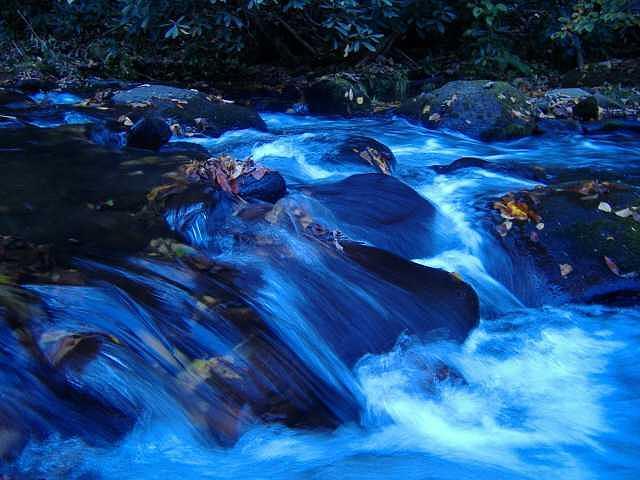 Waterfall Photograph - Blue Rush by Chris  Jones