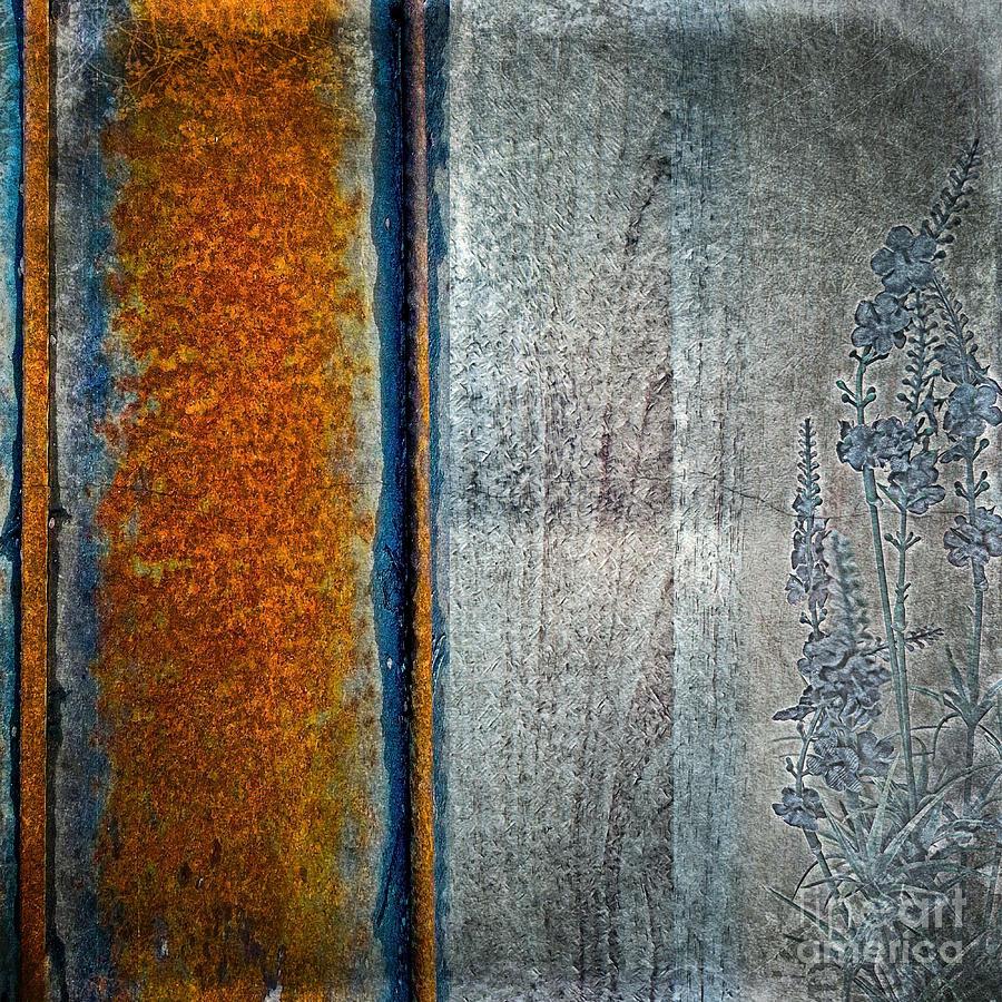 Blue Rust Mixed Media - Blue Rust by Lita Kelley