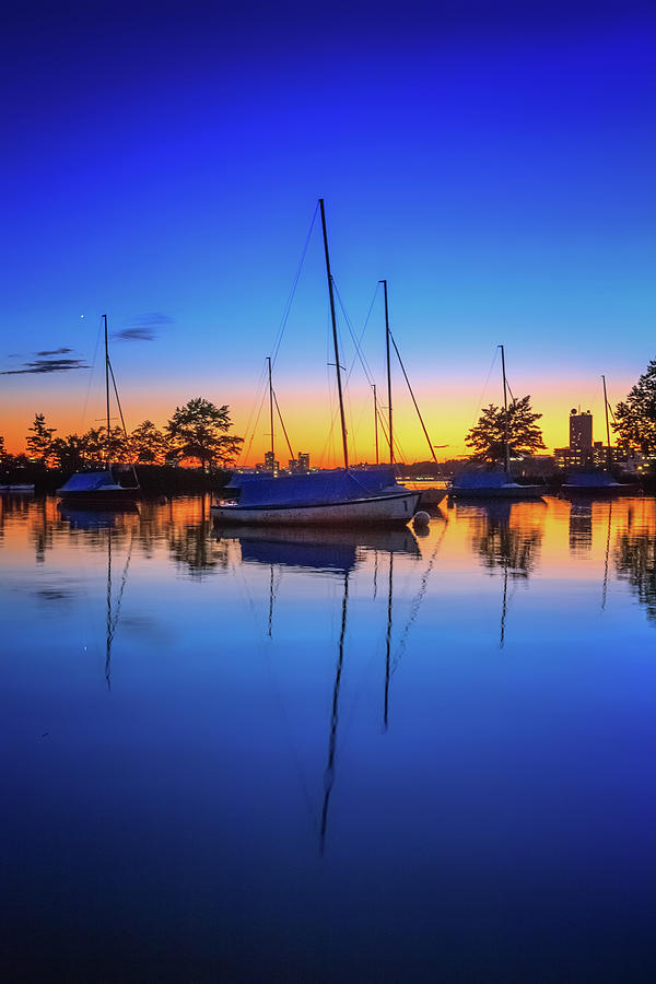 Blue Sails in the Sunset by Sylvia J Zarco