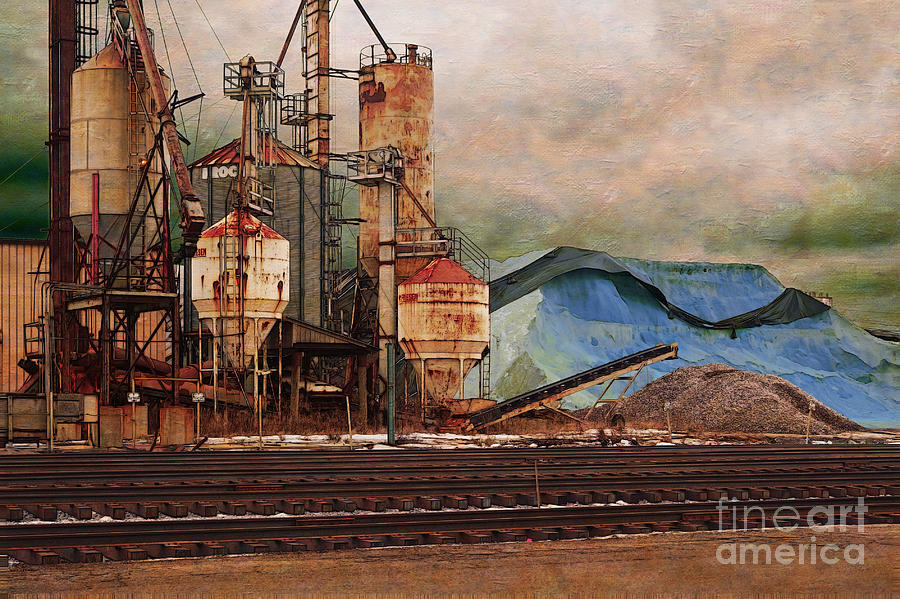 Salt Digital Art - Blue Salt by David Blank