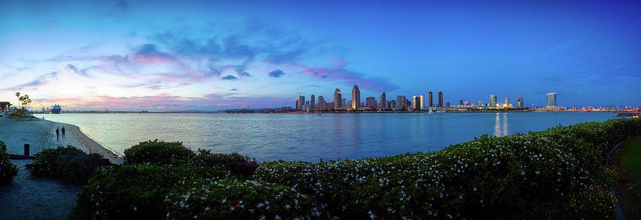 Blue San Diego Skyline Photograph