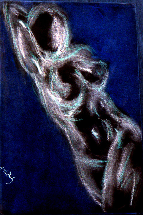 Woman Painting - Blue Sand by B and C Art Shop