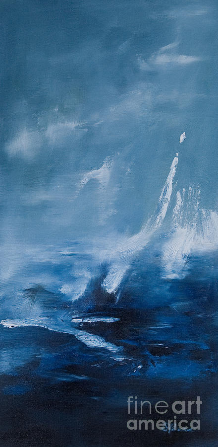 Water Painting - Blue by Sarah Parsons