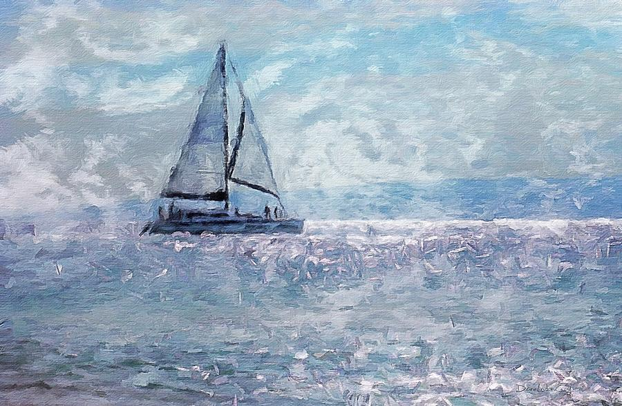 Blue Satin Sailing by Diane Lindon Coy