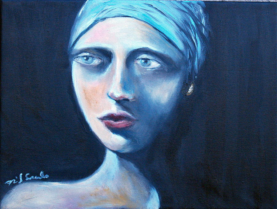 Blue Scarf Painting by Niki Sands