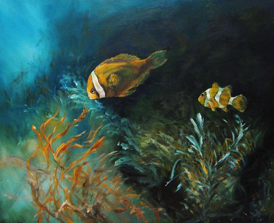 Ocean Painting - Blue Seas by Diane Kraudelt