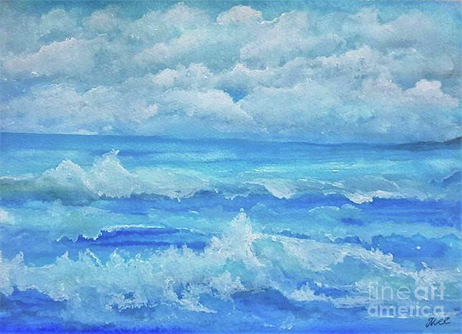 Blue Seascape by Tracey Lee Cassin