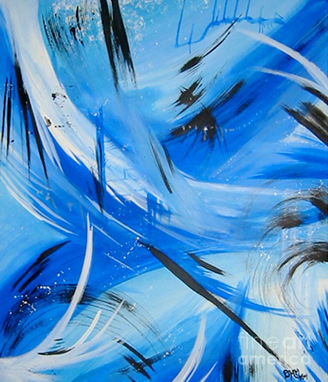 Abstract Painting - Blue Serenity by Dani Marie