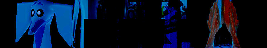 Blue Shadows And The Hound Digital Art