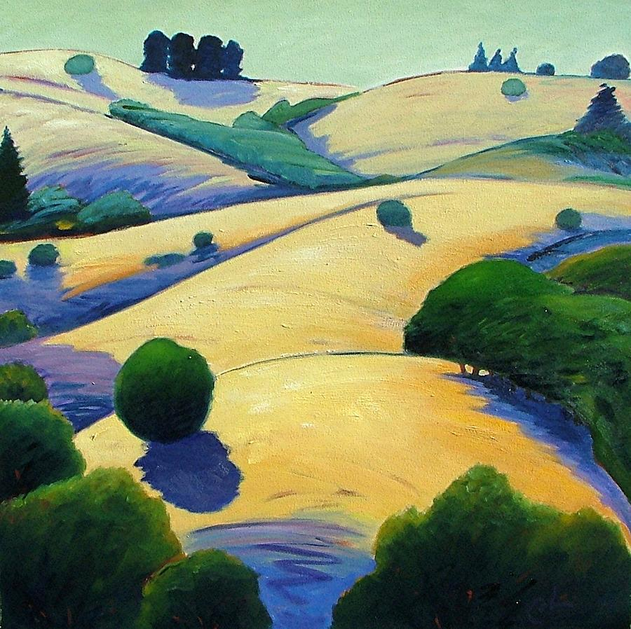California Landscape Painting - Blue Shadows Of Sunset by Gary Coleman