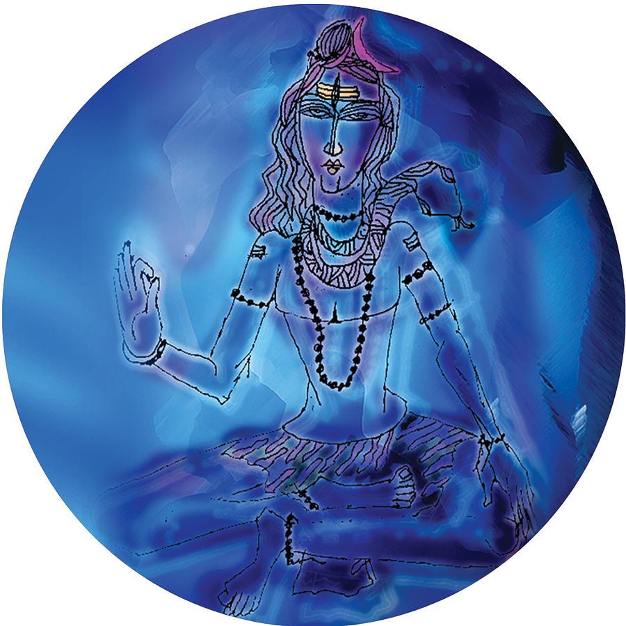Blue Shiva  by Guruji Aruneshvar Paris Art Curator Katrin Suter