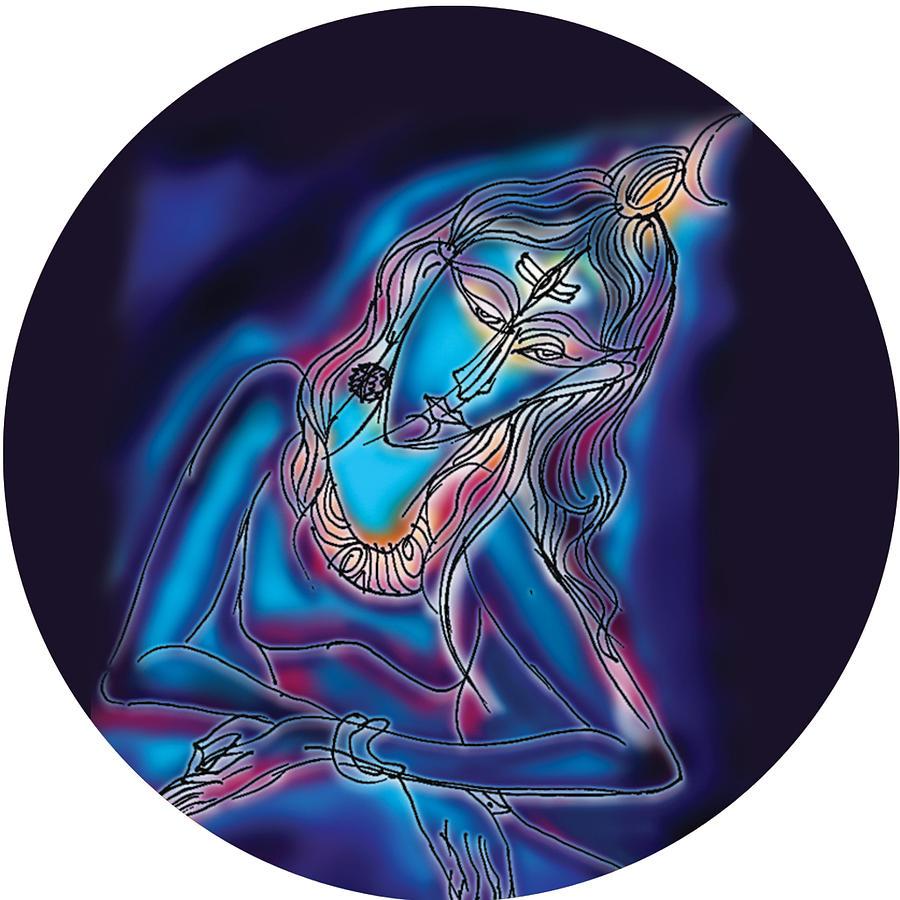 Blue Shiva Light by Guruji Aruneshvar Paris Art Curator Katrin Suter