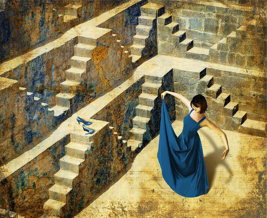 Dance Painting - Blue Shoes by Van Renselar