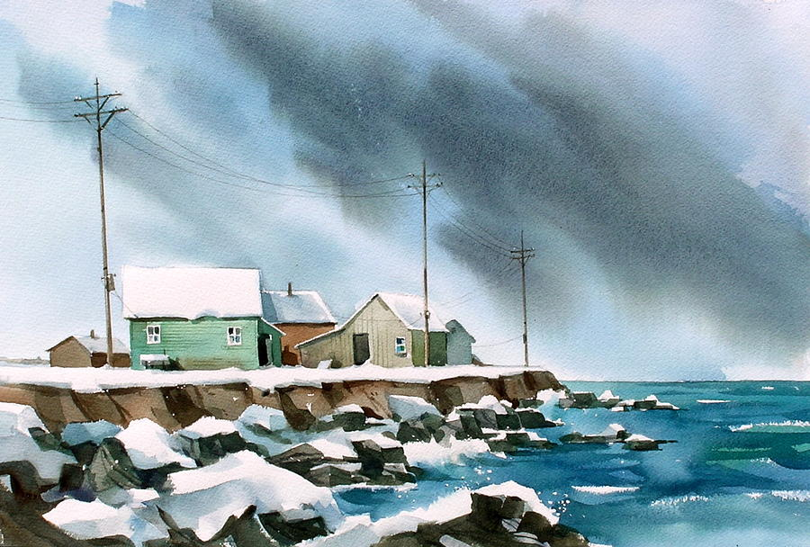 Blue Shore Painting by Art Scholz