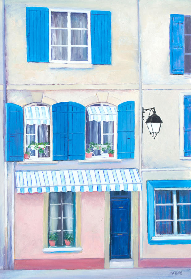 Arles Painting - Blue Shutters Arles France by Jan Matson
