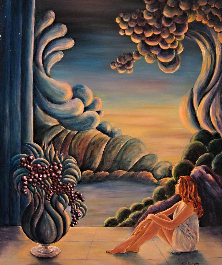 Abstract Painting - Blue Sigh by John Entrekin