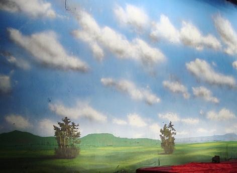 Landscape Painting - Blue Skey by Marimuthu Chinnathambi