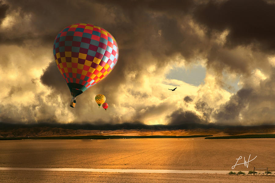 Hot Air Balloon Photograph - Blue Skies Ahead by Artist and Photographer Laura Wrede