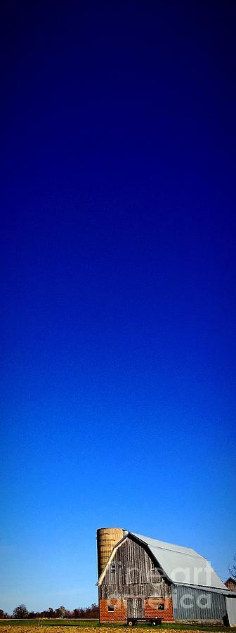 Barn Photograph - Blue Skies And Barns by Garren Zanker