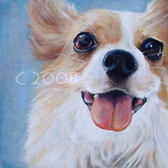 Dog Painting Painting - Blue Skies by Lucky Dogs