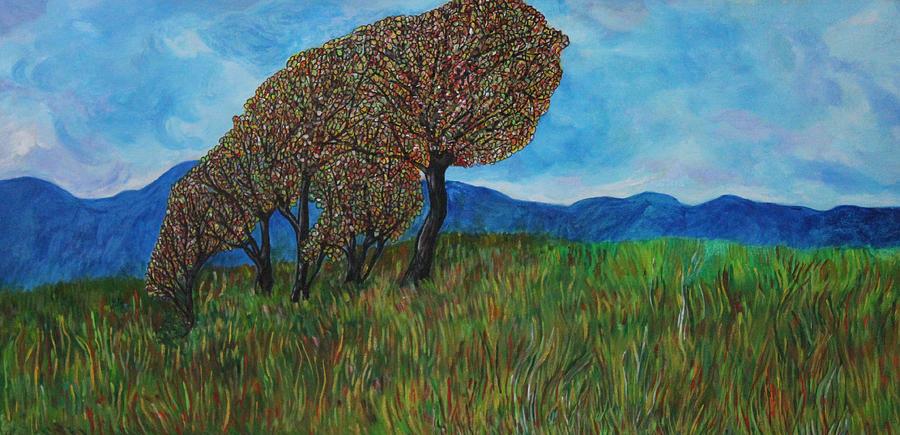 Skies Painting - Blue Skies by Maxine Miller