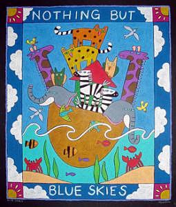 Animals Painting - Blue Skies by Nancy  Coffelt