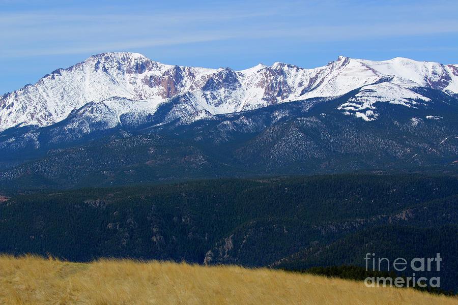 Blue Skies On Pikes Peak Colorado Photograph