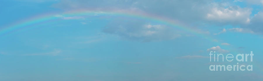 Arch Photograph - Blue Skies With Storm Clouds And Rainbow by PorqueNo Studios