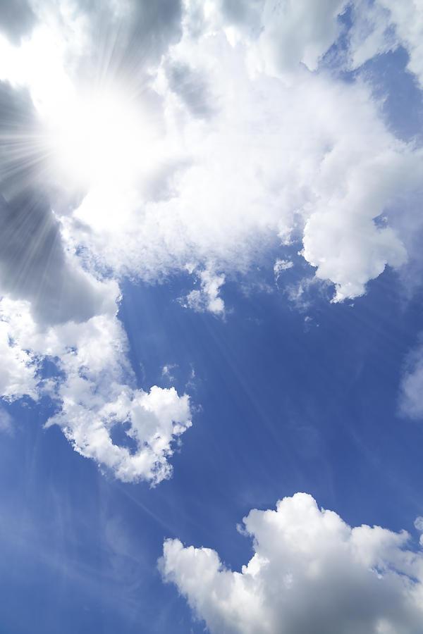 Atmosphere Photograph - Blue Sky And Cloud by Setsiri Silapasuwanchai