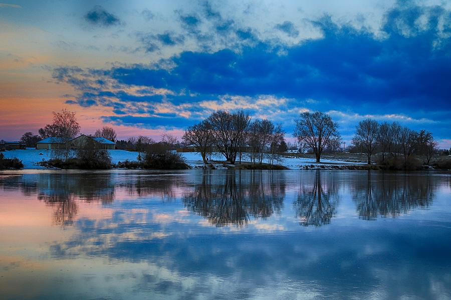 Sunrise Photograph - Blue sky morning by Lynn Hopwood