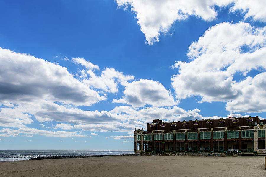 Blue Sky Over Convention Hall by Marlo Montanaro