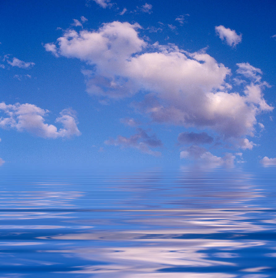 Art Photography Photograph - Blue Sky Reflections by Jerry McElroy