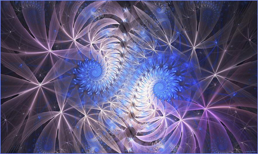 Fractal Digital Art - Blue Snails by Lorant Zsolt