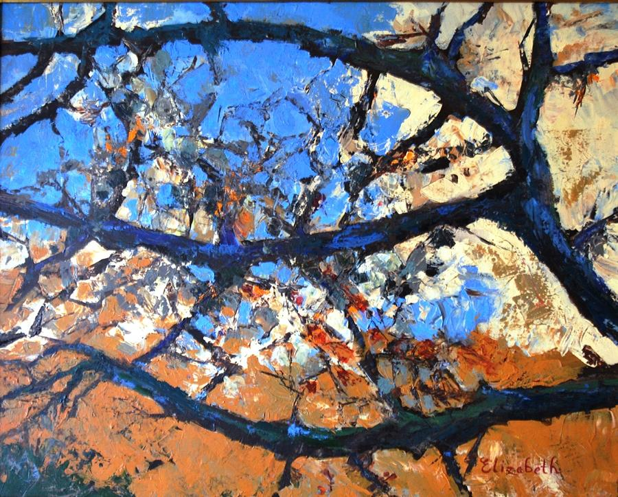 Blue Spaces Painting by Beth Maddox